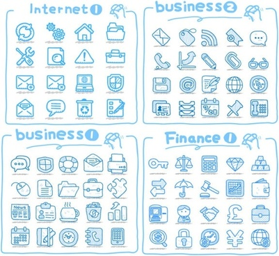 line art icons vector