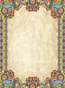 line art lace pattern corner retro pattern vector