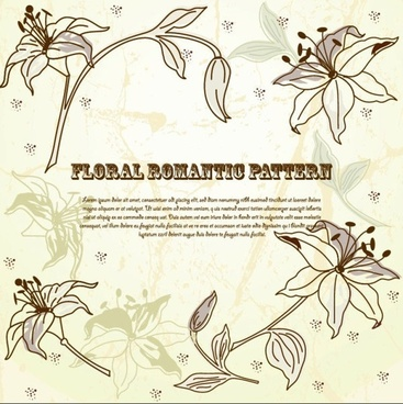 line art pattern background 02 vector