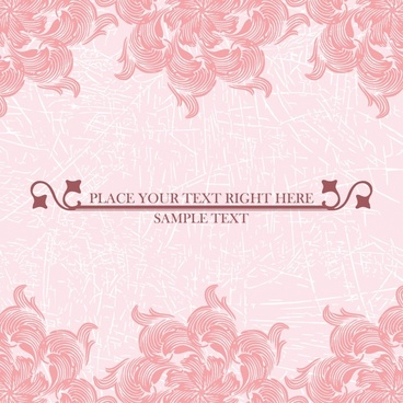 line art pink pattern background vector