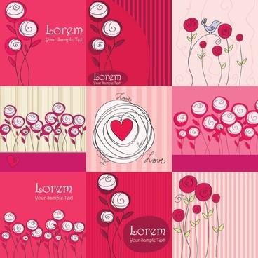 line art roses vector
