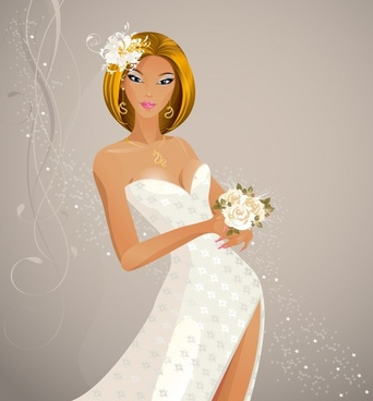 line art vector wedding