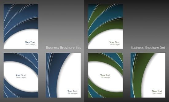 business brochure templates curved lines decor