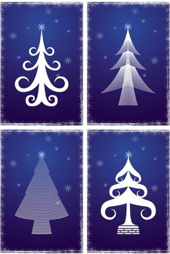 line christmas tree vector