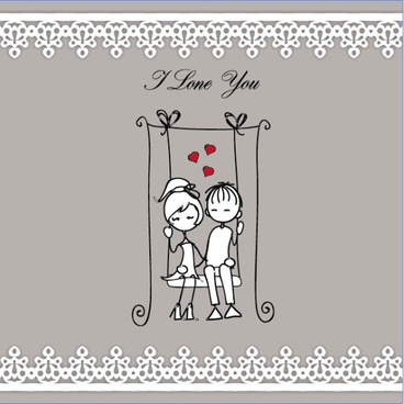 lines issued on valentine39s day illustrations 05 vector