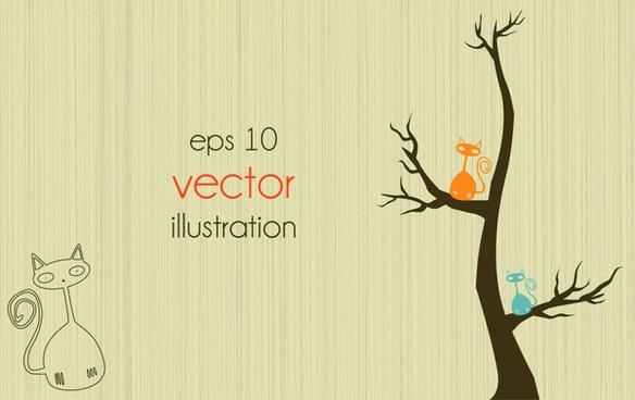 lines of trees vector illustration