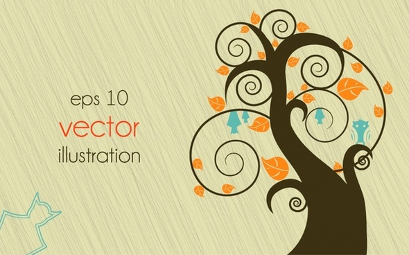 lines of trees vector illustration cartoon