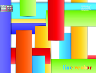 lines vector background set