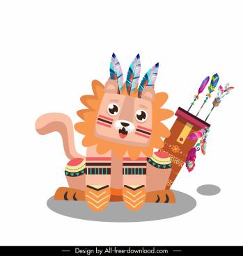 lion animal icon boho costume decor