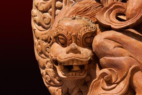 lion detail sculpture