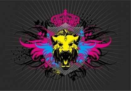 Lion Head and Wings Vector
