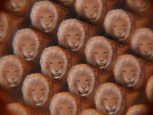 lion kaleidoscope art