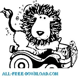 Lion with Car