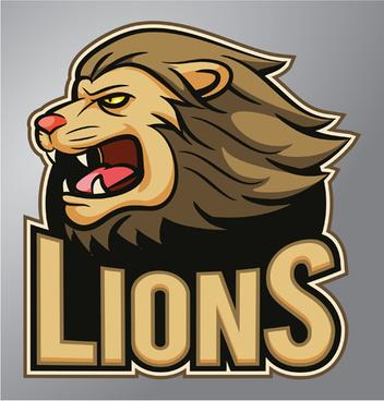 lions logo vector