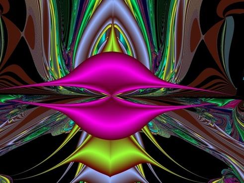 lips fractal pink