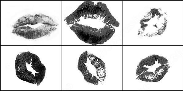 lips kisses brush