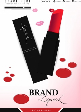 lipstick advertisement lips icons color marks decor