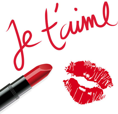 lipstick and lip vector background