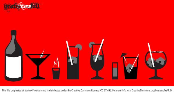 liquor glass vectors