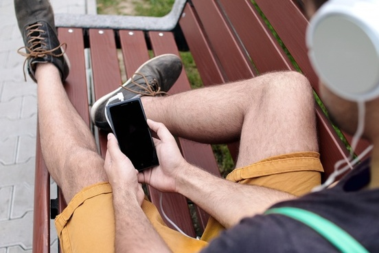 listening to music on smartphone
