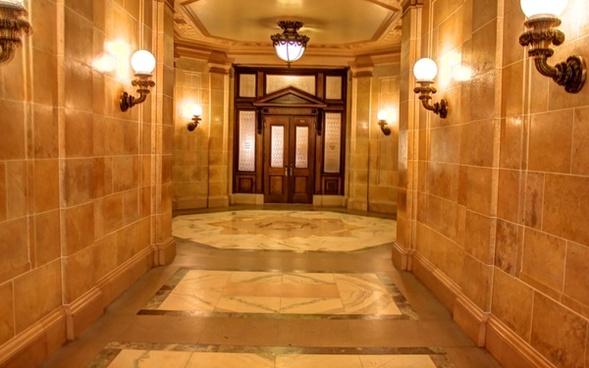 lit hallway