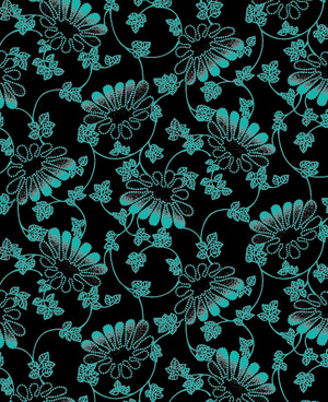little decorative pattern wallpaper background vector