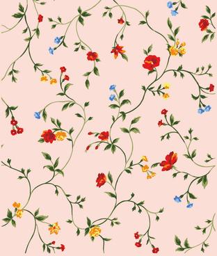 little flower background vector