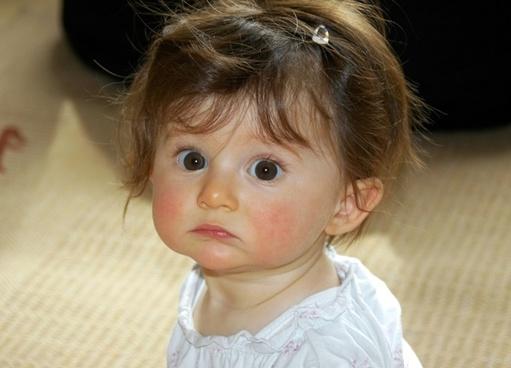 little girl portrait face