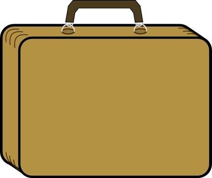 Little Tan Suitcase clip art