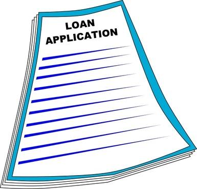 Loan Application clip art