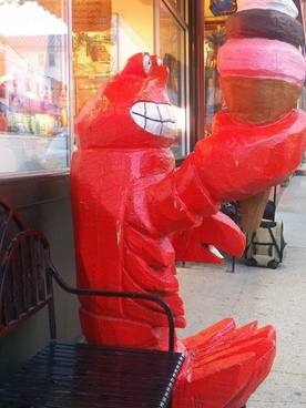 lobster eating an ice cream