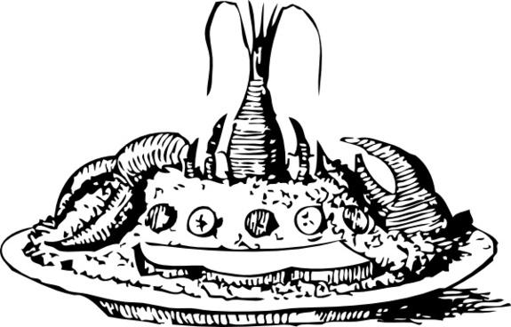 Lobster Salad clip art