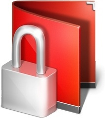 Lock red folder