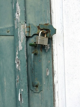 locked security door