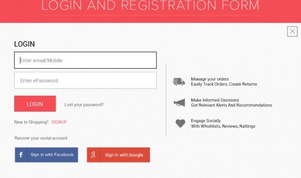 login and registration form fully edit psd file