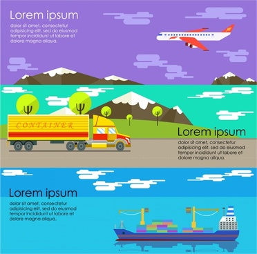 logistics methods concept design with various types
