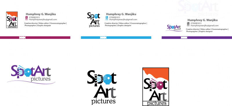 logo and business cards design for spot art pictures