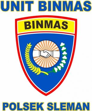 logo binmas police sleman yogyakarta indonesia 2018