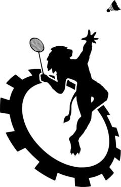 Logo Club Badminton Ecole Centrale De Lyon clip art