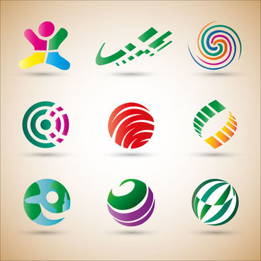 logo design elements abstract colorful shapes