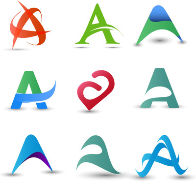 logo design elements design with abstract letter a
