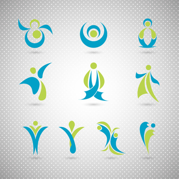 logo design elements design with human gesture illustration
