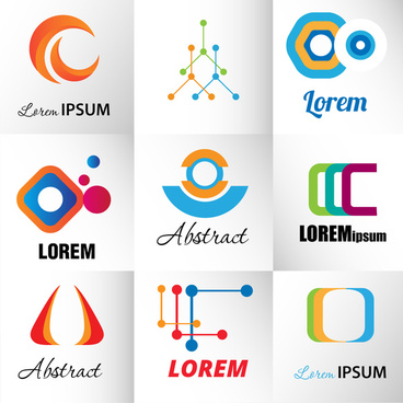logo design elements illustration with abstract style