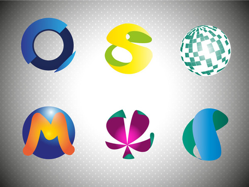 logo design elements with abstract spheres illustration