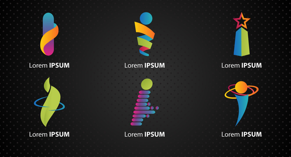 logo design elements with various i letter shapes