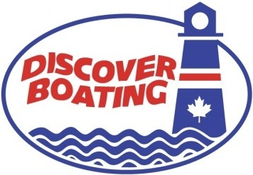logo discover boating vector