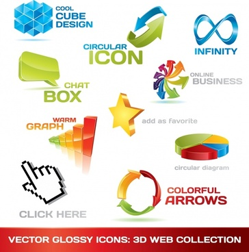 logo templates colorful 3d modern design