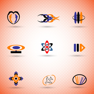 logo sets with various abstract colored styles