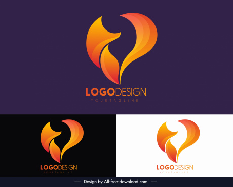 logo template abstract shaped decor