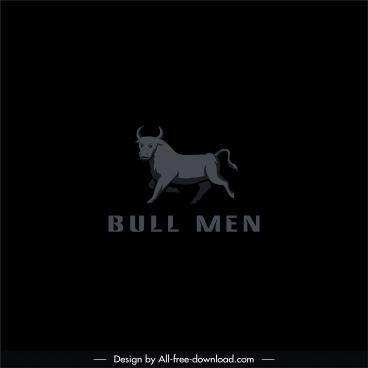 logo template bull animal sketch dark modern